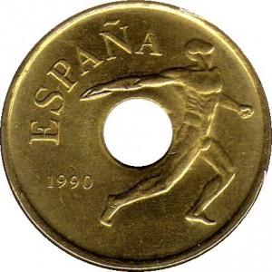 25 pesetas 1990